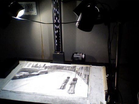 Charcoal Stop Motion animation.