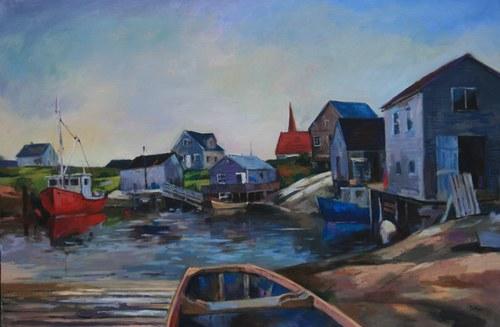 Joro Petkov, Oil on canvas, Landscape, #29