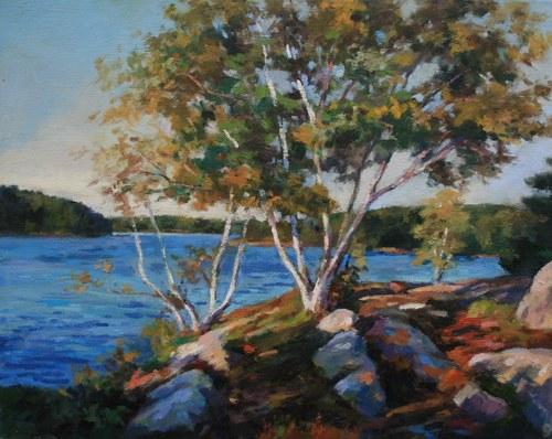 Joro Petkov, Oil on canvas, Landscape, # 17