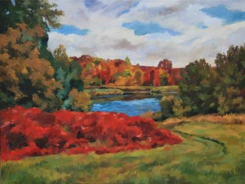 Joro Petkov, Oil on canvas, Landscape, # 18