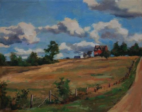 Joro Petkov, Oil on canvas, Landscape, Cottage, # 21