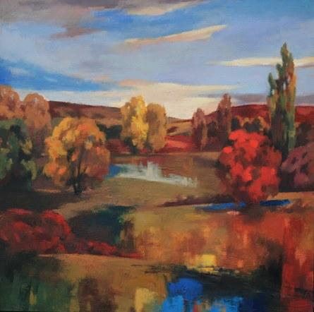 Joro Petkov, Oil on canvas, Landscape, # 7