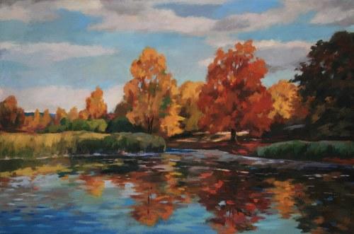 Joro Petkov, Oil on canvas, Landscape, # 24