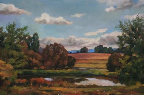 Joro Petkov, Oil on canvas, Landscape, # 28