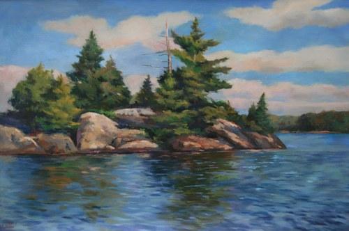 Joro Petkov, Oil on canvas, Landscape, # 11