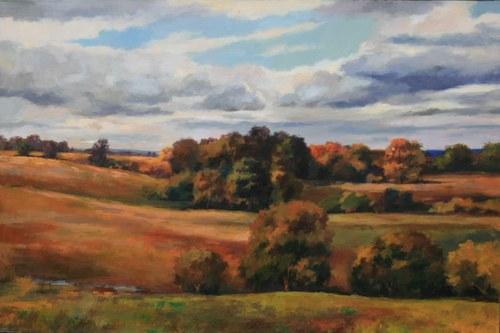 Joro Petkov, Oil on canvas, Landscape, # 8