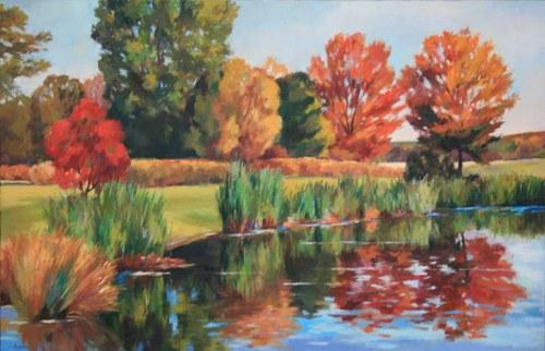 Joro Petkov, Oil on canvas, Landscape, # 15