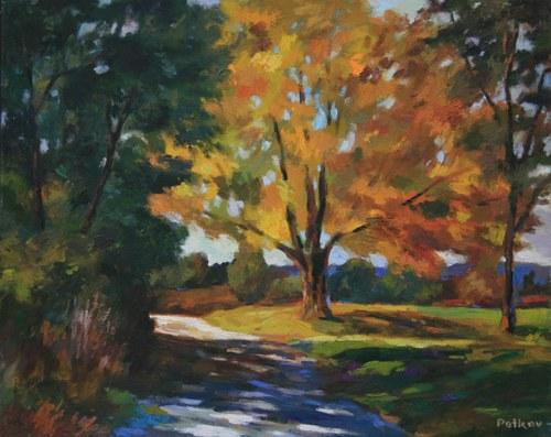 Joro Petkov, Oil on canvas, Landscape, # 14