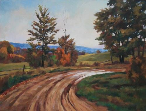 Joro Petkov, Oil on canvas, Landscape, # 22