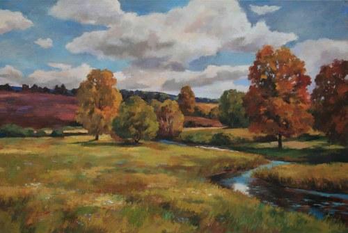 Joro Petkov, Oil on canvas, Landscape, # 12