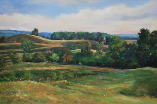 Joro Petkov, Oil on canvas, Landscape, # 33