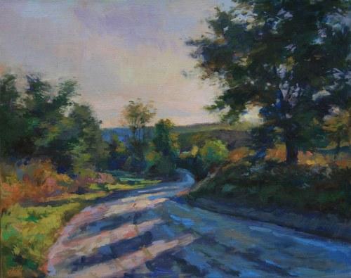 Joro Petkov, Oil on canvas, Landscape, # 13