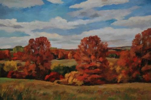 Joro Petkov, Oil on canvas, Landscape, # 26