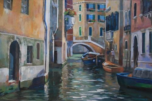 Joro Petkov, Oil on canvas, Venezia, # 31