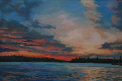 Joro Petkov, Oil on canvas, Landscape, # 27
