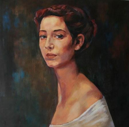 Joro Petkov, Oil on canvas, Portrait # 2