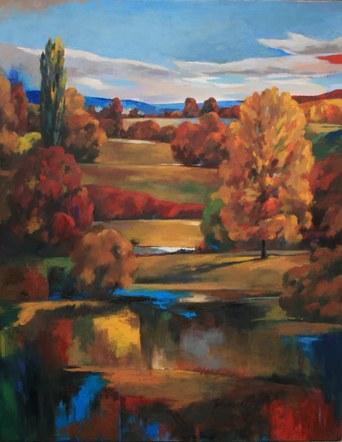 Joro Petkov, oil on canvas, landscape, # 36