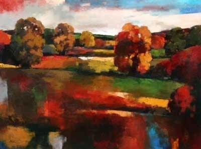 Joro Petkov, oil on canvas, landscape # 37
