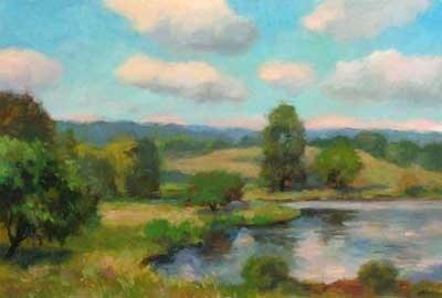 Joro Petkov, Oil on canvas, Landscape, # 38