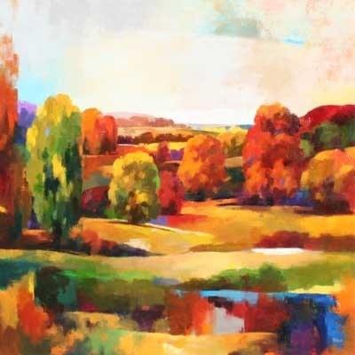 Joro Petkov, Oil on canvas, Landscape, # 40