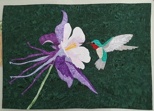 Columbine and a hummingbird