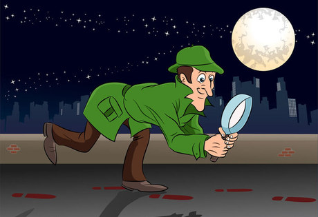 detective searching