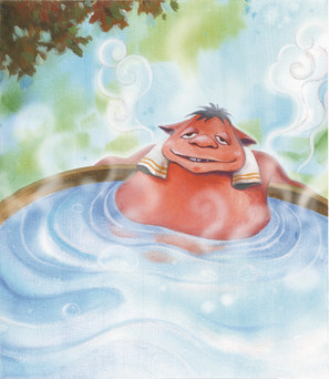 「伐梢」舒服的在泡溫泉
