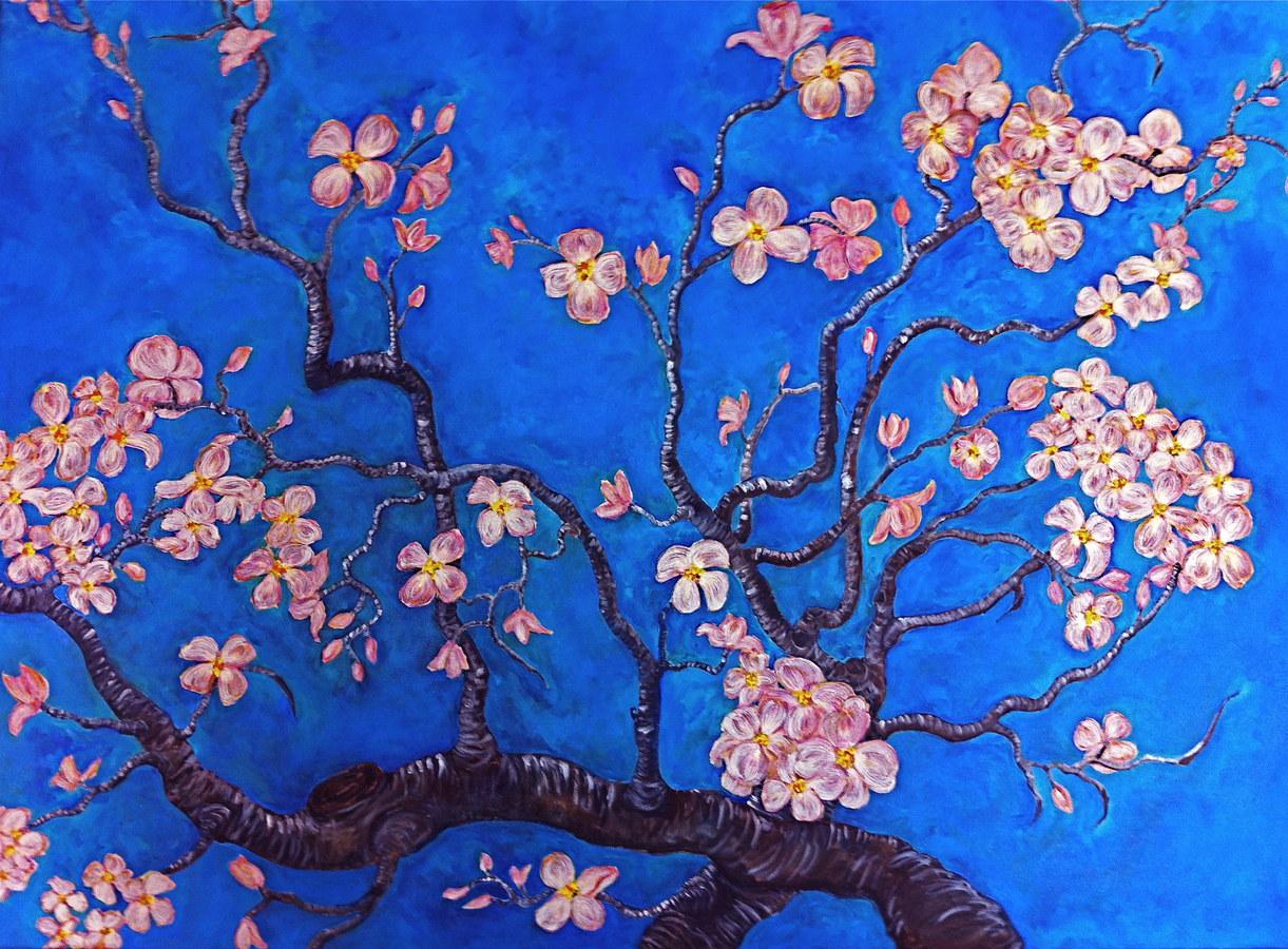 Dogwood Blossoms (after Van Gogh)