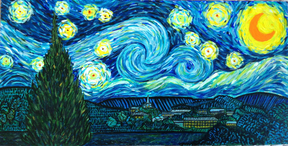 Starry, Starry night (after Van Gogh) SOLD