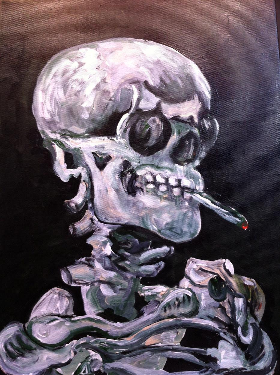 Smoking Skeleton (after Van Gogh)