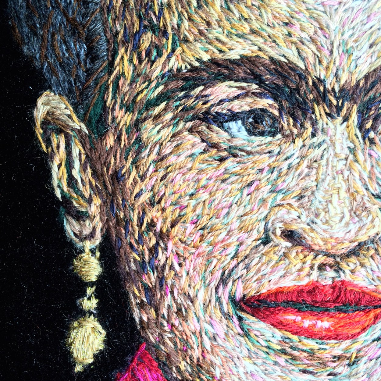 Diego's Chica (portrait of Frida) - detail
