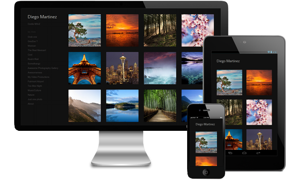 responsive online photography portfolio websites for any device